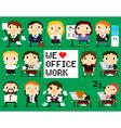 Pixel Office People vector image