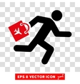 Late Airport Passenger Eps Icon vector image