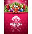 Christmas typographic design with gift boxes vector image vector image