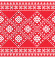 Ukrainian Eastern European folk art embroidery pa vector image