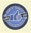 Like us Icon icon social networks vector image