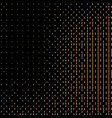 halftone black background with golden vector image