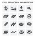 stel metal icon vector image