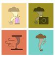 assembly flat icons natural disaster tornado vector image