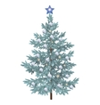 Christmas spruce fir tree with ornaments vector image vector image