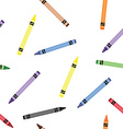 Colorful crayons seamless pattern vector image