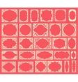 Set of black vintage frames design elements vector image