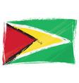 grunge Guyana flag vector image