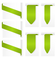 ribbon design elements vector image vector image