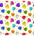 Funny seamless pattern with colorful cups vector image