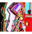 original of abstract art digital vector image