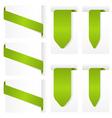 ribbon design elements vector image