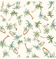 seamless tropical palms pattern vector image