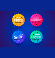 set of business badges for sale and other vector image