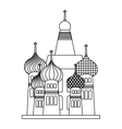 taj mahal isolated icon vector image