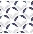 tropical seamless pattern with mango leaves vector image