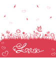 valentines day wedding silhouettes vector image