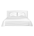White bed vector image