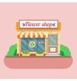 Flower shop facade vector image