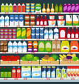 store shelves with products vector image vector image