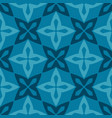 blue moroccan ornamental ceramic tile vector image