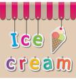 icecream shopfront sign vector image