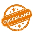 Greenland grunge icon vector image