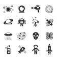 Fiction Icons Black Set vector image vector image
