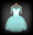 Luxurious dress vector image
