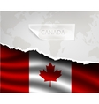 paper with hole and shadows CANADA flag vector image