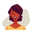 African girl face laughing facial expression vector image