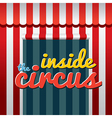 Inside The Circus vector image