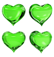 Green hearts vector image vector image