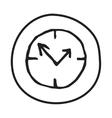 Doodle Clock icon vector image