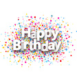 Happy birthday paper background vector image