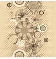beige circles grunge seamless background vector image