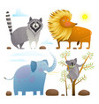 animals zoo clip art collection lion elephant vector image