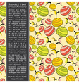 Card with fruits vector image