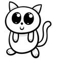 cartoon kawaii cat or kitten vector image
