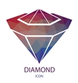 Diamond Icon Jewerly Logo vector image