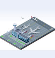 isometric airport vector image