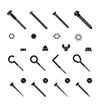 Screws nuts and rivets icons set vector image