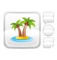 Sea beach and travel icon with tropical island vector image