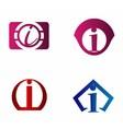 Set of letter I logo icons design template element vector image