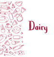 sketched dairy products vector image