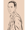 Vintage Hand Drawn Gentleman Men s clothing vector image