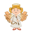 angel musical arch arrow instrument icon vector image
