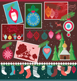 christmas design collection vector image vector image