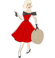 50s woman vector image