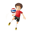 A soccer player fromThailand vector image